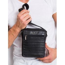 Pierre Andreus kožená taška přes rameno (1114-NDM PA BLACK) Velikost: univerzální