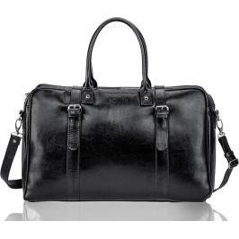 SOLIER Pánská černá kožená taška (SL16 BLACK) Velikost: univerzální