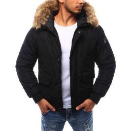 BASIC Pánská černá zimní bunda (tx1705) velikost: XL, odstíny barev: černá