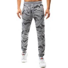 BASIC Pánské šedé kalhoty s maskáčovým vzorem (ux1071) velikost: M, odstíny barev: šedá
