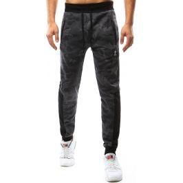 BASIC Pánské šedé kalhoty s maskáčovým vzorem (ux1074) velikost: M, odstíny barev: šedá