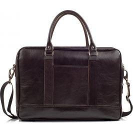 SOLIER Pánská kožená hnědá taška (SL02 brown) Velikost: univerzální