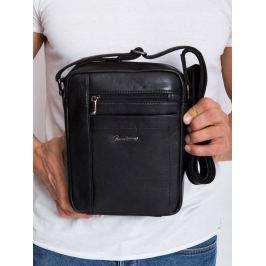 Pierre Andreus kožená taška přes rameno (8022-NDM PA BLACK) Velikost: univerzální
