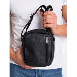 Pierre Andreus kožená taška přes rameno (8023-NDM PA BLACK) Velikost: univerzální