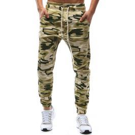 BASIC Béžové kalhoty s maskáčovým vzorem (ux1146) velikost: S, odstíny barev: béžová