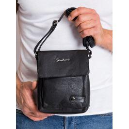 Pierre Andreus černá kožená taška (012-NDM-PA BLACK) Velikost: univerzální