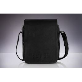 SOLIER Pánská černá kožená taška (SL32) velikost: univerzální, odstíny barev: černá