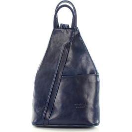 VERA PELLE Dámský kožený modrý batoh (Pl2f) Velikost: univerzální