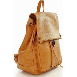 VERA PELLE Kožený batoh DALLAS camel (pl32d) Velikost: univerzální
