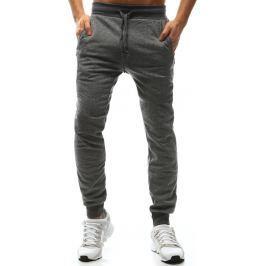 BASIC Klasické šedé pánské kalhoty (ux1166) velikost: M, odstíny barev: šedá