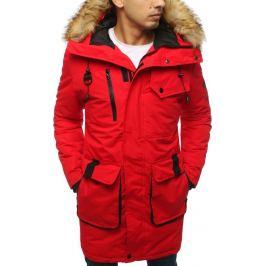 BASIC Červená pánská zimní bunda (tx3030) Velikost: M