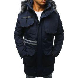 BASIC Tmavě modrá pánská zimní bunda (tx3042) Velikost: M