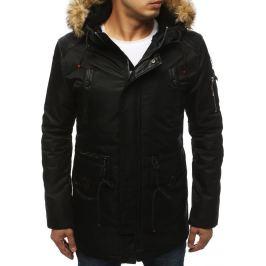 BASIC Černá pánská zimní bunda (tx3044) Velikost: M