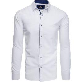 BASIC Bílo-modrá pánská košile (dx1781) Velikost: M