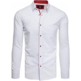 BASIC Bílo-červená pánská košile (dx1784) Velikost: M