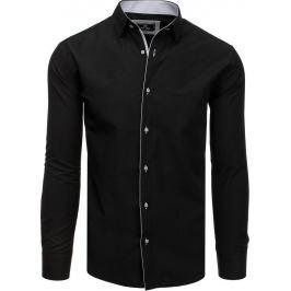 BASIC Černo-bílá pánská košile (dx1785) Velikost: M