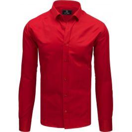 BASIC Červená pánská košile (dx1788) Velikost: M