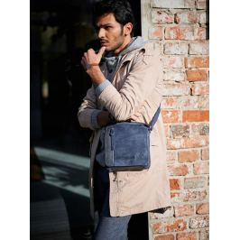 Always Wild kožená taška přes rameno (BAG-2-HB NAVY) Velikost: univerzální