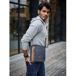 Always Wild kožená taška přes rameno (BAG-2-HB BLACK) Velikost: univerzální