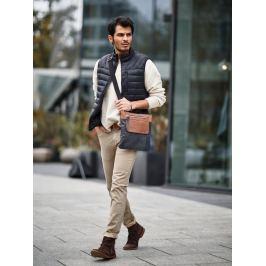 Always Wild kožená taška přes rameno (AG-1-HB BLACK+BROWN) Velikost: univerzální