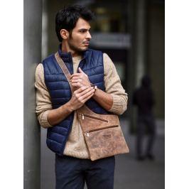 Always Wild kožená taška přes rameno (551-MH BROWN) Velikost: univerzální