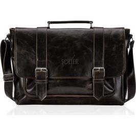 Elegantní pánská hnědá taška na notebook SOLIER (S25 BROWN) Velikost: univerzální