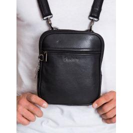 Pierre Andreus kožená taška přes rameno (1115-NDM PA BLACK) Velikost: univerzální