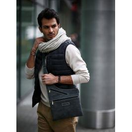 Always Wild kožená taška přes rameno (551-MH BLACK) Velikost: univerzální