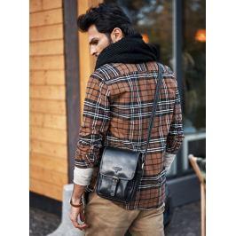 Buffalo Wild černá kožená taška přes rameno (TB-012-COM-0735 BLACK) Velikost: univerzální