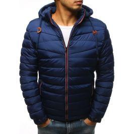 BASIC Pánská prošívaná zimní bunda s kapucí - tmavě modrá (tx3083) Velikost: M