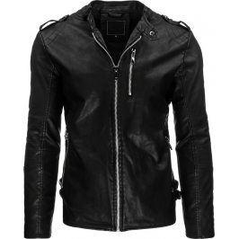 BASIC Pánská černá bunda (tx1289) velikost: 2XL, odstíny barev: černá
