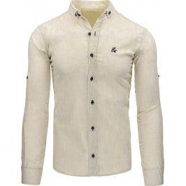 BASIC Pánská béžová košile (dx1017) velikost: 2XL, odstíny barev: béžová
