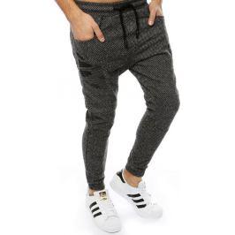 BASIC Tmavě šedé pánské kalhoty (ux2191) Velikost: S