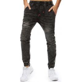 BASIC Pánské černé džíny (ux2207) Velikost: M