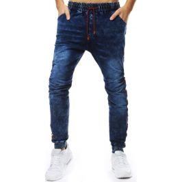 BASIC Pánské modré džíny s pruhem (ux2208) Velikost: M