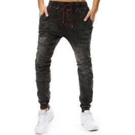 BASIC Pánské černé džíny (ux2209) Velikost: M