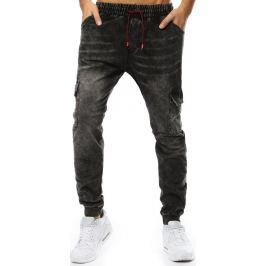 BASIC Pánské černé džíny s kapsami (ux2211) Velikost: M