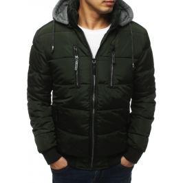 BASIC Pánská prošívaná khaki bunda (tx3126) Velikost: M