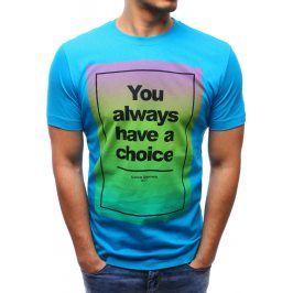 BASIC Pánské tričko (rx0979) velikost: 2XL, odstíny barev: modrá