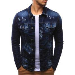 BASIC Pánská džínová bunda (tx2091) velikost: M, odstíny barev: modrá