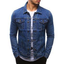 BASIC Pánská džínová bunda (tx2092) velikost: M, odstíny barev: modrá