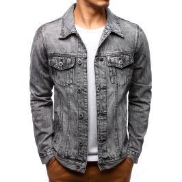 BASIC Pánská džínová bunda (tx2093) velikost: M, odstíny barev: modrá