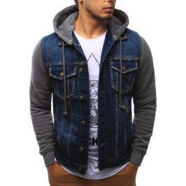 BASIC Pánská džínová bunda (tx2094) velikost: M, odstíny barev: modrá