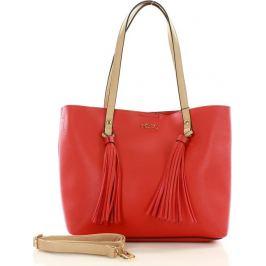 NOBO Červená městská shopper kabelka (n1850a) Velikost: univerzální