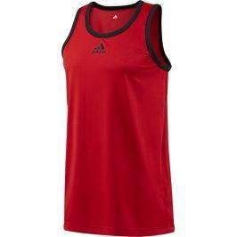 Pánský červený nátělník ADIDAS - F81556 velikost: XLT, odstíny barev: červená