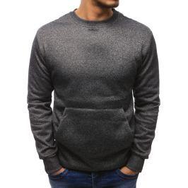 BASIC Pánská tmavě šedá mikina (bx1883) velikost: M, odstíny barev: šedá