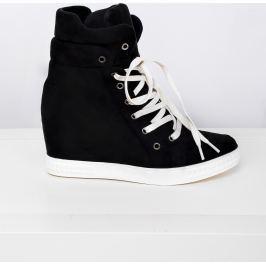 Černé sneakery na platformě - 1125B velikost: 36, odstíny barev: černá
