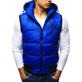 BASIC Pánská modrá prošívaná vesta (tx0931) velikost: M, odstíny barev: modrá