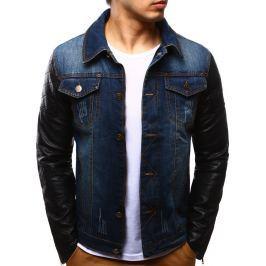 BASIC Pánská džínová bunda (tx1243) velikost: M, odstíny barev: modrá