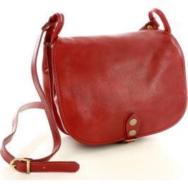 MAZZINI - červená kožená kabelka přes rameno (L86f) Velikost: univerzální